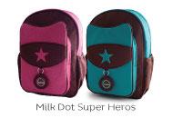 Milk Dot Super Hero Backpacks