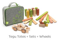 Tegu Magnetic Blocks, Totes and Wheels