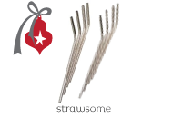 Onyx Stainless Steel Reusable Straws