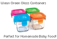 Wean Green Glass Food Containers