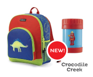 Crocodile Creek BackPacks, Lunch Bags, Thermos, Ice Packs.