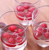 Raspberry Champagne Jello Drink